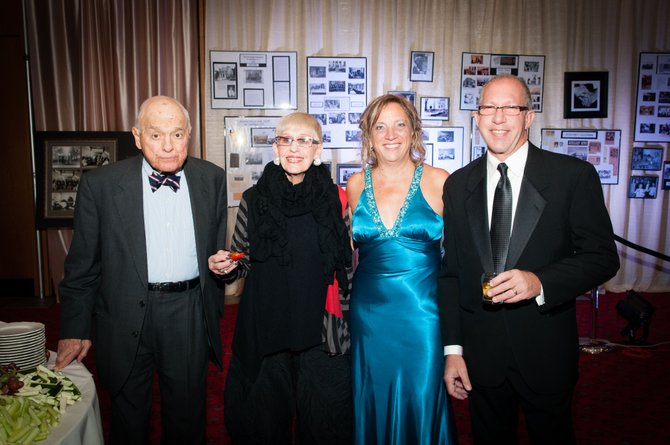 Pictured at Menorah Park's 100th Anniversary Gala are (from left) honorary centennial chairs Sidney and Winnie Greenberg, Menorah Park CEO Mary Ellen Bloodgood and committee co-chair Steve Sisskind.