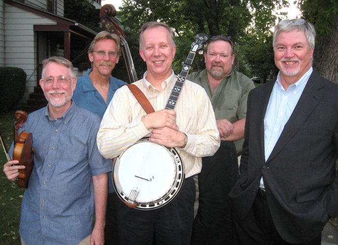 The Mark Allnatt Band, (from left) Henry Jankiewicz, John Dancks, Allnatt, Karl Paisley and Ted Williams, will perform bluegrass tunes at 2 p.m. Sunday, Nov. 18, at the American Legion Post 297, at 131 Main St. in Marcellus.  