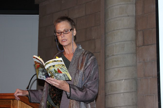 "Elisabeth Lehr reads from the book ""The Sky is a Nest of Swallows,"" a collection of work from the Afghan Women's Writers Project's online magazine."