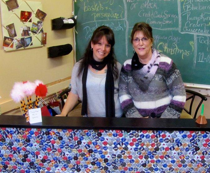 Danielle Karlik, left, and Linda Boehm are co-owners of Da-Li Hodge Podge in Jordan.