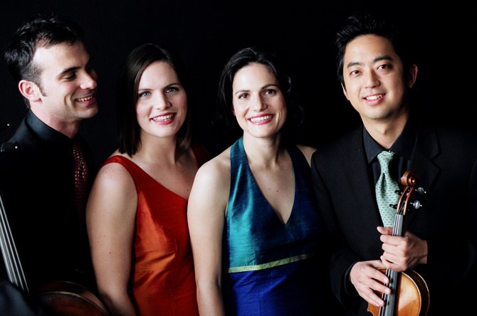 The acclaimed Jupiter String Quartet performs in Middlebury Nov. 29-30.