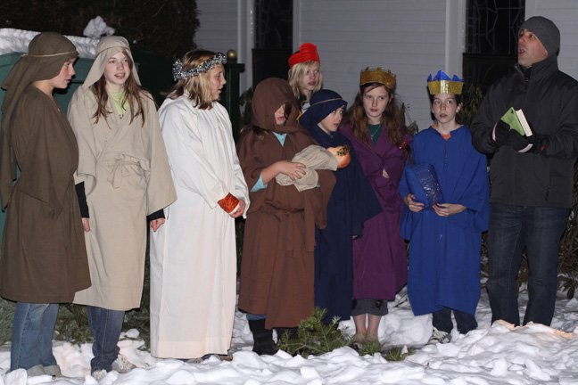 A living nativity scene will be part of the Schroon Lake community Christmas celebration Saturday, Dec. 8.