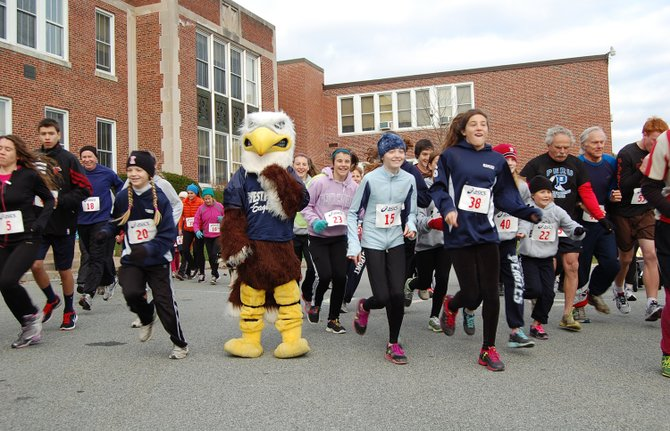 "The Westport Parent Teacher Association held its first ""Fly Like an Eagle"" 5K Fun Run/Walk."