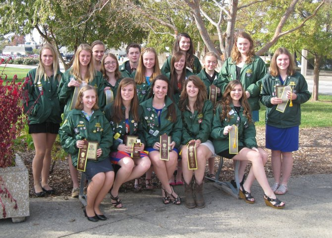 Vermont 4-H Club members in Kentucky. See names in story.