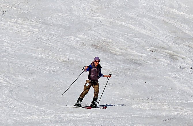 A skier enjoys Gore Mountain on March 22, the last day of the 2011-12 ski season. Gore opens for the 2012-13 season on Friday, Nov. 23