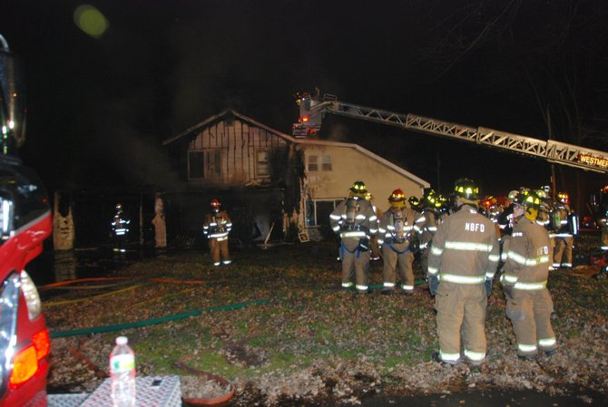 Fire broke out in a vacant home in North Bethlehem on the evening of Wednesday, Nov. 21. 
