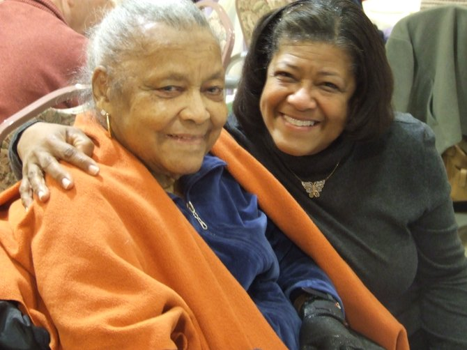 "Dorinda Davis and her mother, Myrtle, at the annual ""Thanks for Caregiving"" event through Bright Horizons."