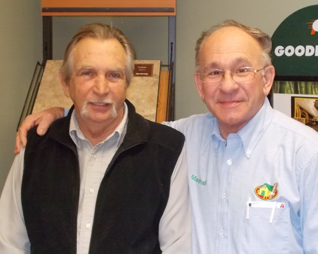 Earl Rounds, left, and Marshall Gero will be honored Thursday, Dec. 13, at the Curtis Lumber store in Schroon Lake. The men have each been with the company 40 years.