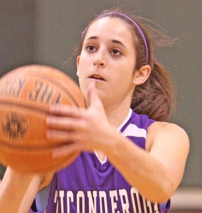Andrea Rich scored 25 points as Ticonderoga got its girls basketball season off to a good start, beating Westport, 47-31, in the opening round of the Alzheimers Awareness Tournament Nov. 27.