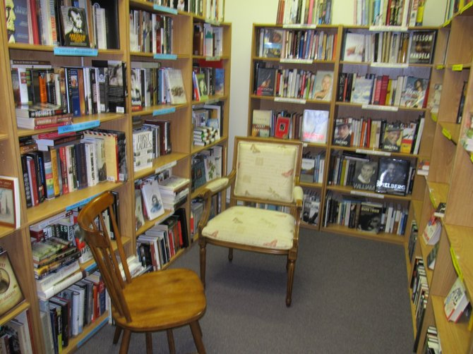 "Eastline Books in Clifton Park offers a warm and welcoming space for shoppers, with owner Robyn Ringler encouraging people to ""come take a load off."""