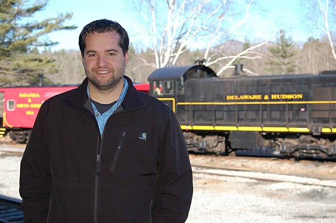 Saratoga & North Creek Railway General Superintendent Justin Gonyo at the North Creek Depot