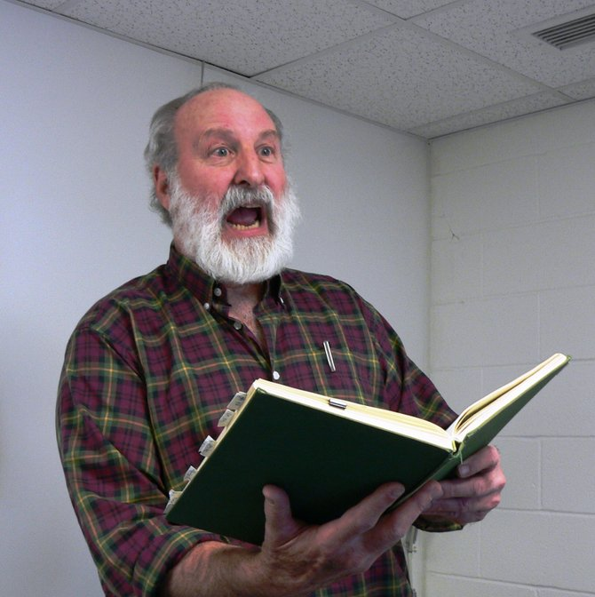 "Middlebury's Marshall Eddy offers a dramatic reading of ""A Child's Christmas in Wales"" at a holiday event to benefit Town Hall Theater on Sunday, Dec. 2, at 4 p.m."