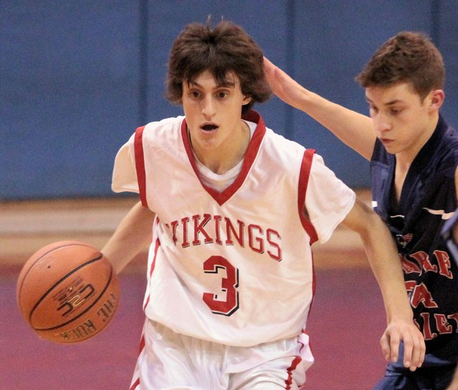 Jessup Calkins scored eight points as Moriah advanced to the championship game of the Alzheimer's Awareness Tournament with a 52-30 win against Willsboro in boys basketball action Nov. 29.