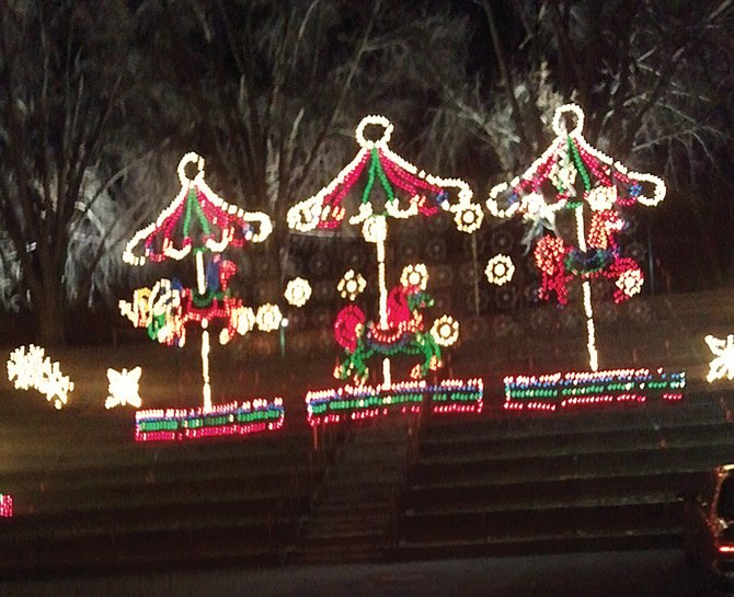 The Capital Holiday Lights display covers two miles in Albany's Washington Park. Admission is $15 per car.