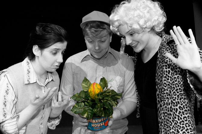 Little Shop of Horrors will be presented at the Schenectady Light Opera House, 427 Franklin St., Schenectady, Dec. 7 through 9 and Dec. 13 through 16. Thursday and Friday shows are at 8 p.m. and Sunday shows are at 2 p.m. Tickets are $18 to $28 and may be purchased at the box office at Schenectady Light Opera House, by phone at 877-7378 or online at www.sloctheater.org.