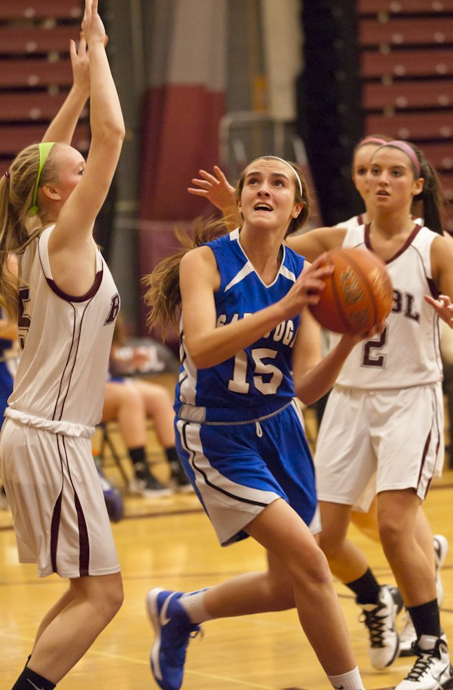 Saratoga traveled to Burnt Hills to take on the Spartans in girls basketball on Dec. 7 and won 34-31.