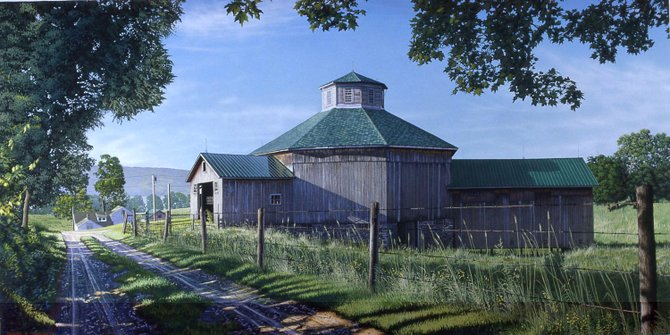 """Eight Sided Beauty"" is one of the paintings Dan Tennant made into a print to sell at Troyer's Country Store. The barn is in Richfield Springs and is owned by Terry Damon of New Woodstock."