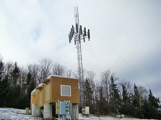 Here is the long-awaited, new cell tower erected atop Signal Hill Road in Indian Lake.  According to Meredith Dropkin, a spokesperson for Verizon, the target date for having the cell tower turned on is the end of this year barring any unforeseen circumstances.