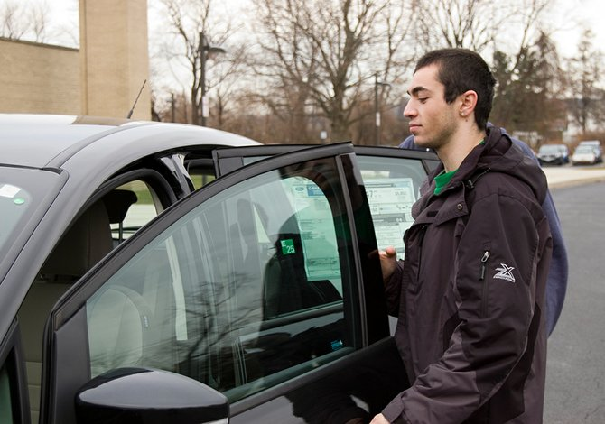 Scotia-Glenville seniors were able to test-drive several alternative fuel vehicles on Friday, Dec. 7, as part of their English class.