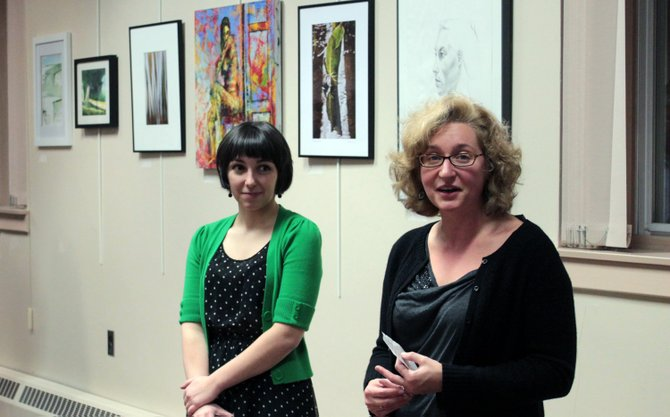 North Country Cultural Center for the Arts gallery co-ordinator Shawna Armstrong, left, and NCCCA executive director Janine Scherline.
