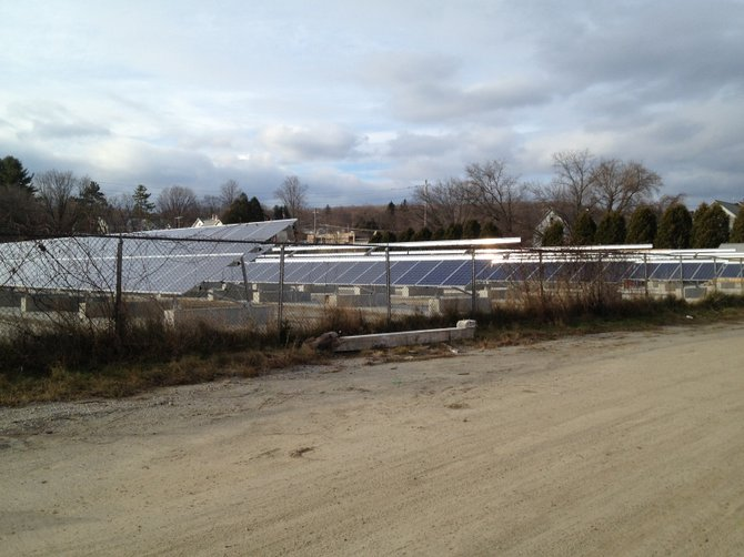 The first major project aimed at making Rutland the solar capital of New England has come on-line, with the transformation of a long-troubled utility property that now generates clean, renewable electricity.