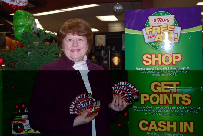 Cazenovia resident Patricia Smith was named as the fifth winner of free groceries for a year on Dec. 5. The gift was given to Smith as part of Tops' 50th Anniversary Free For All Grocery Giveaway.