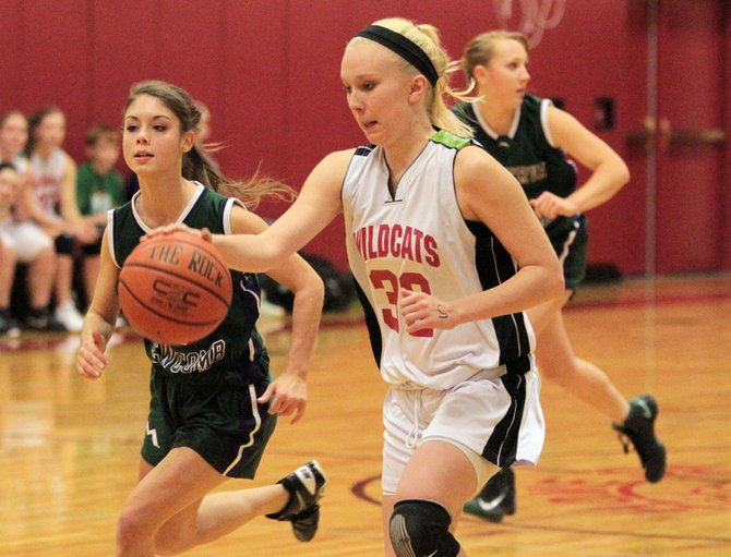 Lindsay Reynolds helped Schroon Lake beat Wells, 38-22, in Mountain and Valley Athletic Conference girls basketball action Dec. 17.