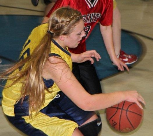 Melissa Paris scored four points as Mountainside Christian Academy topped Trinity Baptist, 27-12, in girls basketball action Dec. 4.