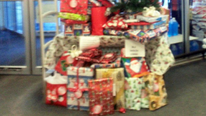 Presents for the Santa for Seniors fundraiser at the Elizabethtown Kinney Drugs store.