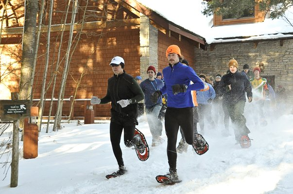 Snowshoe competition is one of the events being planned for the Brant Lake Winter Carnival, a new event —scheduled for Saturday Feb. 9 — that is expected to feature a roster of activities for family fun.