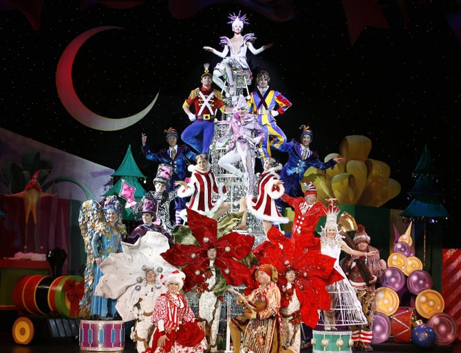 "There will be high-flying gingerbread men and other dazzling feats performed during ""Cirque Dreams Holidaze,"" which has a grandiose wonderland of holiday spirit. There will be four performances at Proctors the weekend of Friday, Dec. 28."