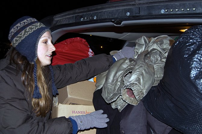 Rayn Boncie, founder of Things of My Very Own, filled her truck with donated winter items for homeless children. The non-profit hosted a Sleep Out on Thursday, Dec. 20, in Schenectady to collect items and raise awareness.