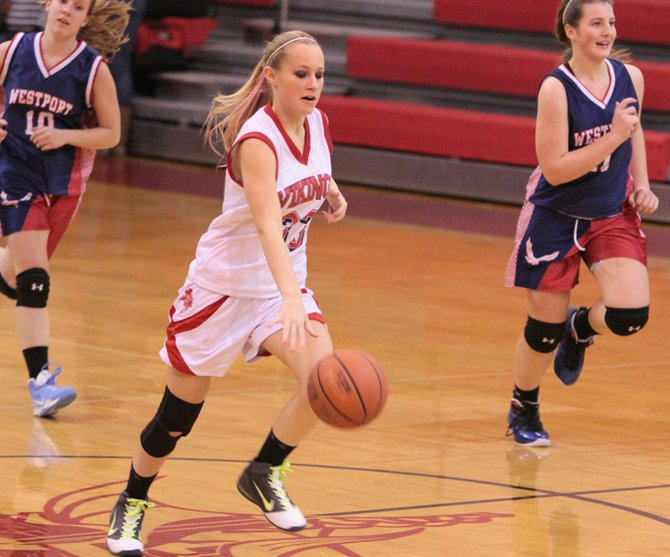 Taylor Sprague helped Moriah to a pair of wins as the host Vikings won the  Moriah Holiday Tournament Dec. 28 and 29.