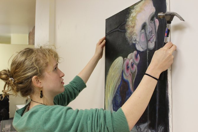Saranac Lake artist Jenny Curtis prepares for her first solo exhibition, which takes place at ROTA Gallery in Plattsburgh until Thursday, Jan. 10.