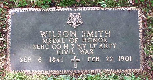 Wilson Smith, who was born on Sept. 7, 1841in Oriskany Falls and died Feb. 22, 1901 in Rome, N.Y., received the prestigious Medal of Honor around 1896 for his duty during the Civil War.