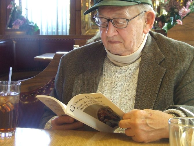 "Gordon Jevons writers about his life in ""Grandpa Gordon's Book of Light Hearted Poetry and Anecdotes."""