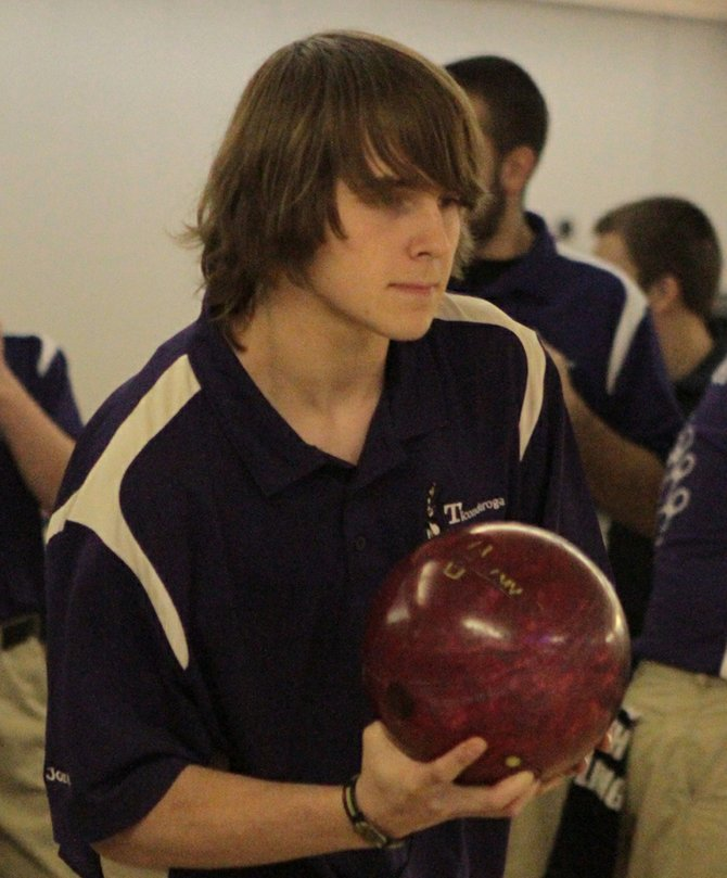 Jordan Millington and Ticonderoga lost to Northeastern Clinton, 9-1, in Champlain Valley Athletic Conference boys bowling Jan. 7.