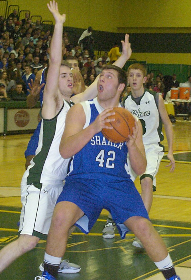 Images from the Jan. 10 basketball doubleheader between Shaker and Shen at Siena College. The event raised money for the Chris Stewart and Deanna Rivers scholarships at Shenendehowa.