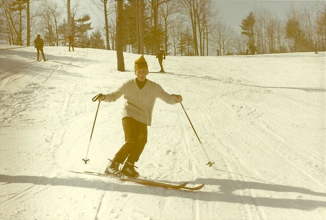 Maple Ski Ridge in Rotterdam is celebrating a half-century on the slopes this year. This photograph shows a skier hitting the slopes around the 1970's,