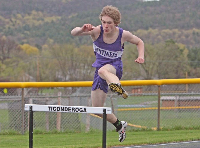 Jay Hebert of Ticonderoga set a school and Section VII record in winning the 55-meter hurdles at the Dartmouth Relays Jan. 12.