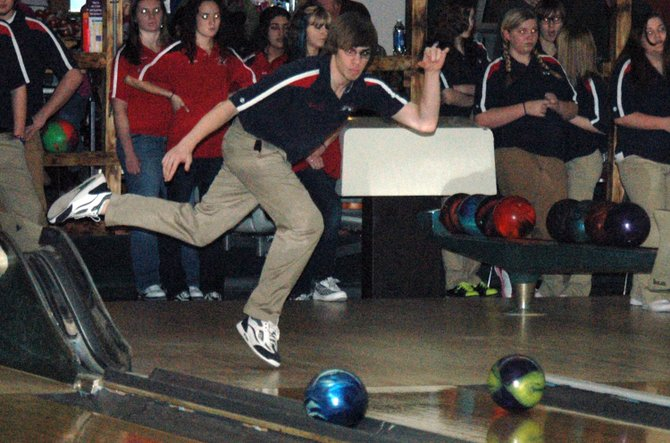 Charlie Lacy rolled a 206 high game against Willsboro Jan. 14.
