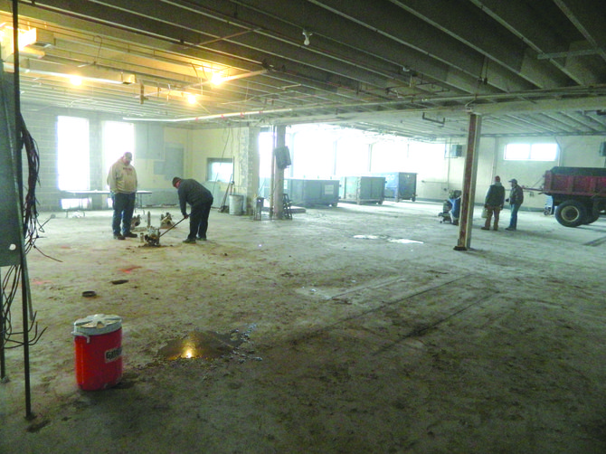 Contractors began work renovating the new village hall building on Fennell Street on Jan. 7.