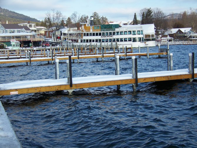 Lake George Village officials expressed appreciation this week for a state grant of $177,000 to complete the replacement of its wooden public docks along Beach Road with new metal docks that withstand weather and dont require intermittent replacement or repair.