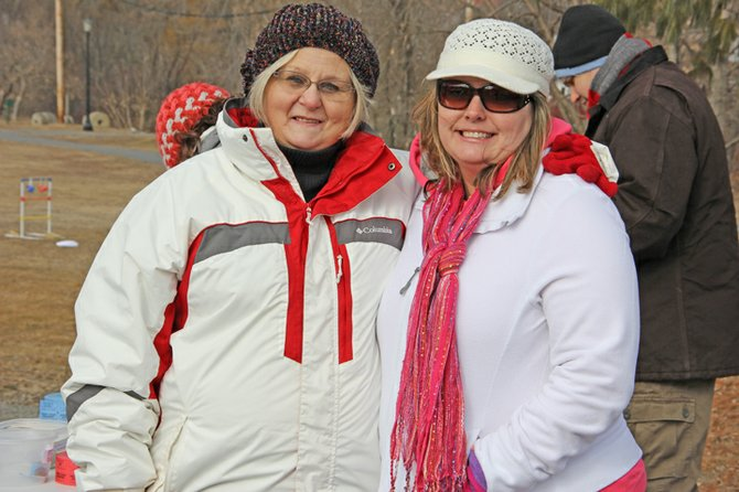 Ann Morette and Penny Stevens enjoy activities at the 2012 WinterFest. The 2013 WinterFest will be held Feb. 9 in Ticonderoga.