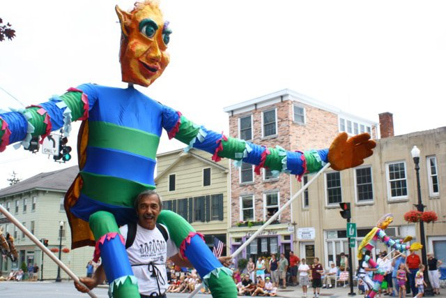 Puppeteers from the Open Hand Theater participated in Cazenovia's 2012 Fourth of July parade.