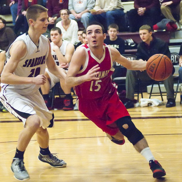 Burnt Hills hosted Guilderland on Jan. 26. The Dutch jumped to an early lead and pulled away for the win agains the Spartans 82-53.
