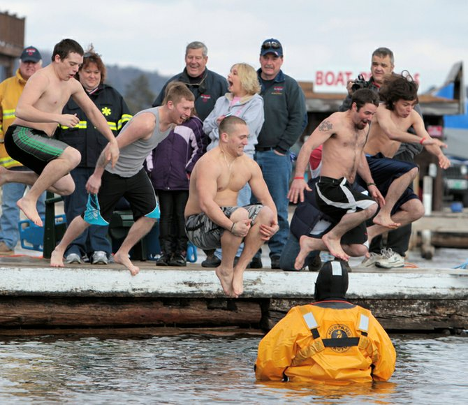 The Polar Bear Plunge is a highlight of the Hague Winter Weekend. The 2013 plunge will be held at 2 p.m. at the Trout House Village dock with registration at 1 p.m.