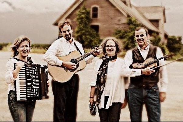 Folk band Zephyr will perform in Shoreham, Feb. 9. Band members are Matthew Dickerson, Susan Nop, Kathleen Smith, and Dutton Smith.