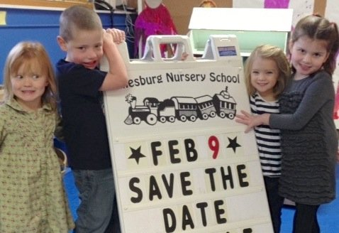 Children of the Hinesburg Nursery School at the Hinesburg Community School are gearing up for the town's annual Winter Festival, Waffle Breakfast and Silent Auction, Feb. 9.