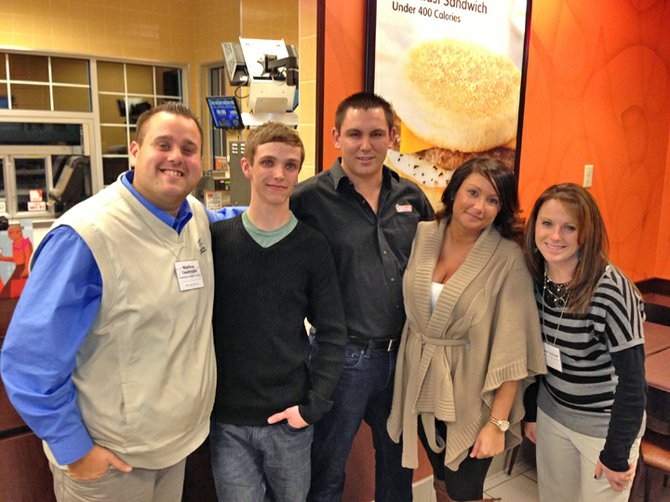 Dunkin Donuts hosted the Ticonderoga Area Chamber of Commerce January After Business Mixer. From left are Matt Courtright, chamber executive director, Tristan Bean of Dunkin Donuts, Greg Sagris of Dunkin Donuts, Meaghan Kroner of Dunkin Donuts and Molly Bechard, chamber member services representative.